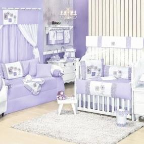 Quarto Para Bebê Padroeira Baby Ursa Florista Lilás