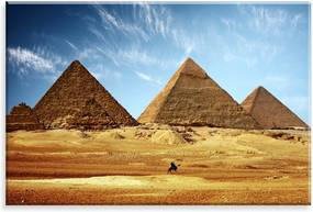 Tela Love Decor Decorativa em Canvas Egito Multicolorido 90x60cm