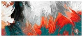 Quadro Decorativo Abstrato Cores em Movimento - KF 46235 40x60 (Moldura 520)