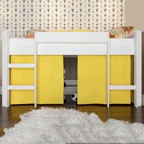 Cama Infantil Cama Elevada Sem Escorregador Branco Bb 870 - Completa Móveis