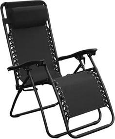 Cadeira Topplin Reclinável em Aço Carbono - Preto