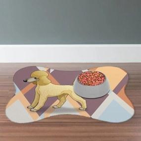 Tapete PET Poodle Colorido46x33cm