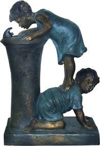 Fonte em Resina Crianças no Bebedouro 68x45x24 Cm