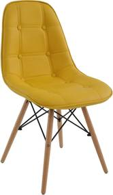 Cadeira Eiffel Sem Braço Botone Amarelo Rivatti