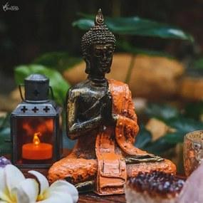 Estátua de Buda Tailandês Laranja/ Gold