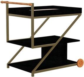 Bar Moritz C/ 1 Prateleira de Porcelanato Preto Silk Texturizado /