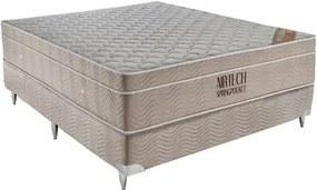 Conjunto Box Airtech Spring Pocket Viuva 128 cm (LARG) Base Camurca - 52778 Sun House