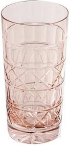 Copo De Cristal 320ml Pink Lodz