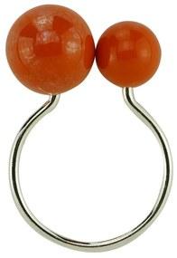 Jogo Anéis Para Guardanapos 4 Peças Plástico Bolas Laranja 4x3x7cm 60718 Royal