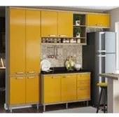 Cozinha Modulada Sicilia 04 Modulos Argila Amarelo Multimoveis