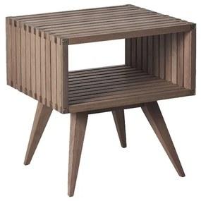 Mesa de Apoio Madeira Ripado Dominoes 45 cm - Wood Prime MR 34640