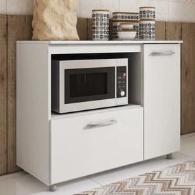 Armário de Cozinha Balcão P Microondas 2 Portas Branco Bl 200 - Completa Móveis