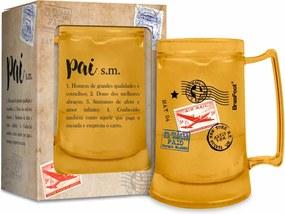 Caneca gel 300ml - pai significado bege
