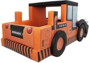 Cama Carro Infantil Escavadeira Laranja