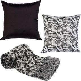 Manta decor p/sofá 2x1,4m e 2capas almofada pixelvsk160