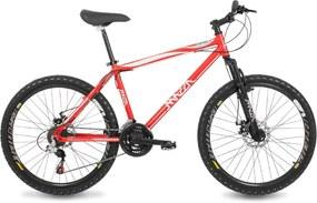 Bicicleta Mazza Bikes Fire Aro 26 Shimano Tourney 21 marchas MZZ-100 Vermelha