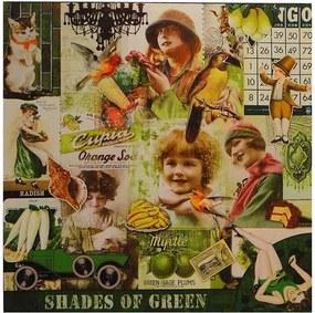 Tela Impressa Fotos Vintage Green