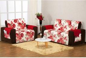 Capa para Sofá Floral Vermelho 2 e 3 Lugares