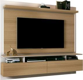 "Painel Home Suspenso para TV até 55"" Sala de Estar Beatles Off White/Freijó - Gran Belo"