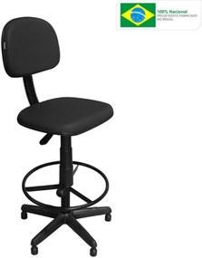 Cadeira de Caixa Pethiflex CSX-02 Giratória Couro Preto