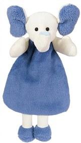 Naninha Corpinho Soft Azul Elefante com Prendedor de Chupeta