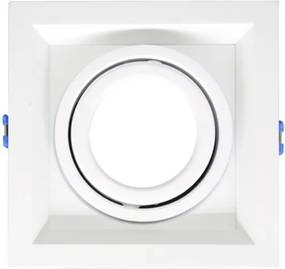 Plafon Embutir Aluminio Branco 13,8cm Recuado Ii