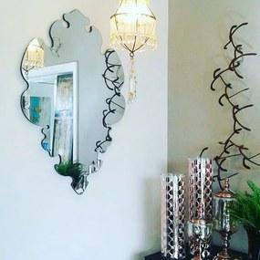Espelho Veneziano Deluxe Prata Vários Tamanhos
