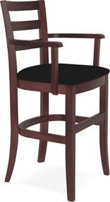 Cadeira de Madeira Infantil Paris Sofie Tabaco com Braços e Estofado Preto Tramontina 14084435