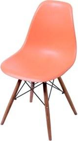 Cadeira Eames Polipropileno Laranja Base Escura - 44833 Sun House