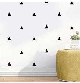 Papel Parede Geométrico Triângulo Preto Branco Grã