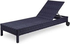 Espreguicadeira Corona Estrutura Aluminio Revestida em Fibra Sintetica cor Azul Marinho - 44571 Sun House