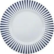 Prato Raso 28 Cm Porcelana Schmidt - Dec. Sol Azul - Branco