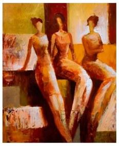 Quadro Decorativo Figurativo Três Mulheres - KF 48648 40x60 (Moldura 520)