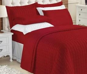 Roupa de Cama Casal King Kit Top Line 180 Fios 04 Peças - Vermelho