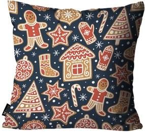 Capa para Almofada Mdecore Biscoito Marinho 35x35