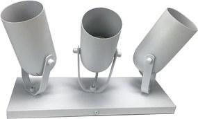 Trilho 3 Spots Branco Fosco - Metaldomado - 11306BF