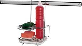 Porta Detergente Esponja com Suporte Suspenso Euro Home Cromado