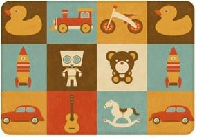 Tapete de Atividades Infantil Baby Toys Único Marrom