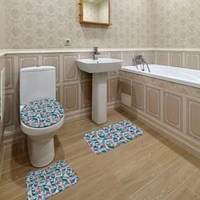 Jogo de Banheiro Geométrico AzulÚnico