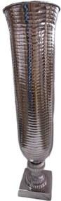 Vaso De Alumínio Grande Cromado