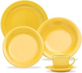 Aparelho de Jantar e Chá com 30 Peças Amarelo