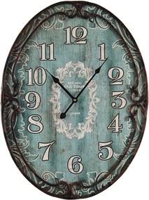 Relógio de Parede Oval Azul Oldtown Oldway - 60x45 cm