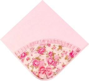 Manta Melissa Floral 2 - Rosa - Floral Padroeira Baby