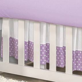 Saia Para Berço Padroeira Baby Lolita - Lilás