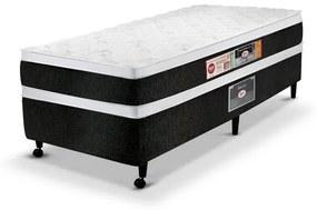 Cama Box  Solteiro Castor Espuma Black & White D45 AIR Double Face 088X188x60