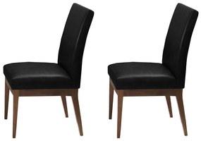 Conjunto 2 Cadeira Decorativa Luana Couríssimo Preto