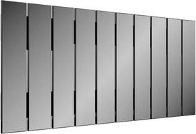 Quadro Espelho Ripas Vertical 1,50 MT (LARG) cor Preto Brilho - 47483 Sun House