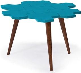 Mesa de Centro Colméia Azul Claro