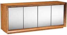 Buffet Passos com Espelho 200 cm - Wood Prime MT 27665