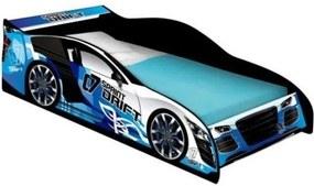 Cama Carro Drift Solteiro Azul- J&A Móveis